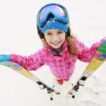 Лыжи на Рождество ребенку