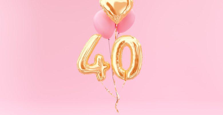 подарок с шариками на 40-летие