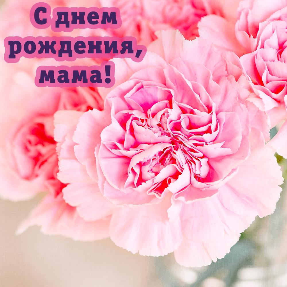 Цветочная открытка-поздравление для мамы