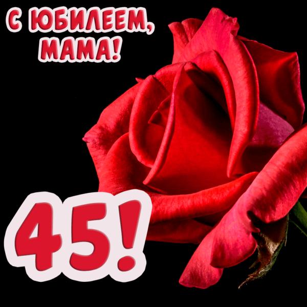 Юбилейная открытка маме на 45-летие