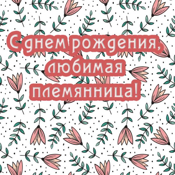 Веселая открытка для племянницы