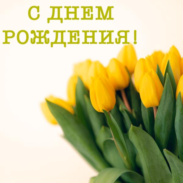 Открытка сестре на фоне тюльпанов