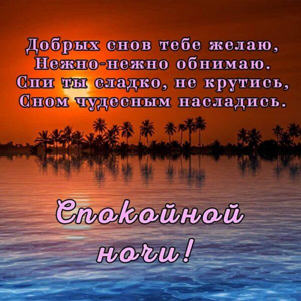 Добрых снов желаю, нежно обнимаю!