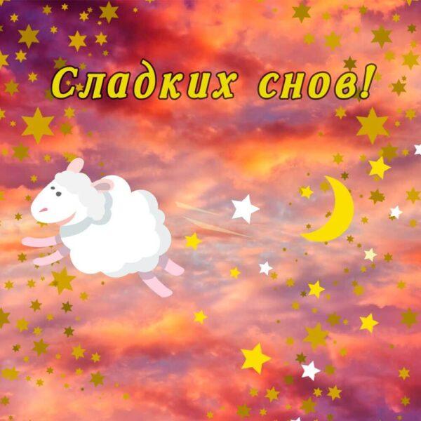 Барашек на открытке сладких снов